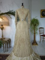 40 antique reception gown 1901