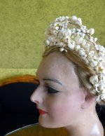 9 antique wax tiara 1912