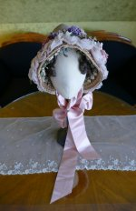 3 antique bonnet 1860