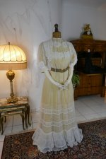 2 antique tea gown 1903