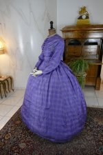 11 antique crinoline dress 1860