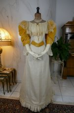 6 antique evening dress 1895