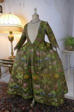 7 antique childs court dress 1760