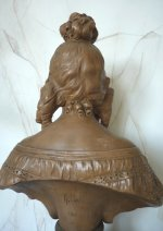 7 antique female bust