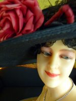 1 antique wax mannequin 1920