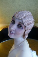 29 antique hair cloche 1920