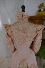 27 antique Rousset Paris society dress 1899