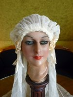 3 antique wedding cap veil 1920
