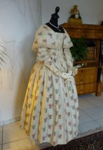 2 antique romantic period dress 1839