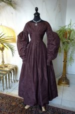 2 antique romantic period gown 1837