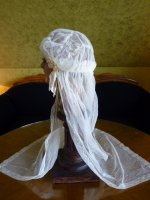 6 antique wedding cap veil 1920