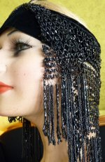 7 antique flapper headpice 1920