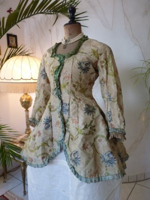 antique silk jacket 1750