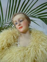 Mannequin in Life Size with Wax Bust, signature C.A.P, antique mannequin, wax bust, antique bust, bust 1920, wax bust 1920
