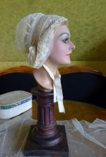 2 antique wedding bonnet 1840