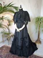 9 antique Worth evening dress 1898