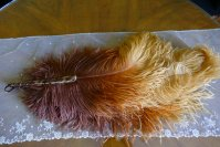 9 antique feather fan 1920