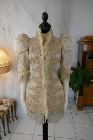 antique silk jacket 1895