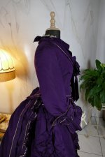 37 antique bustle dress 1874