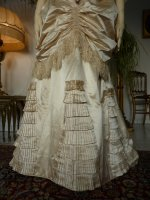 8 antique bustle wedding gown 1879