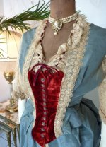 4 antique Ball gown 1876
