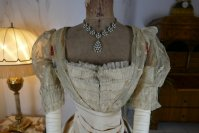 4 antique LEROUX Ball gown 1890