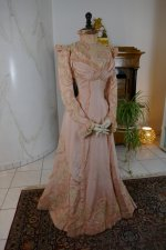 7 antique Rousset Paris society dress 1899