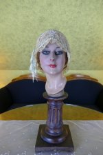 2 antique boudoir Bonnet 1920
