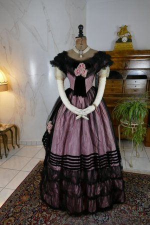 antique crinoline ball gown 1855