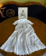 2 antique christening gown