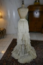 85 antique bustle Overgown 1880