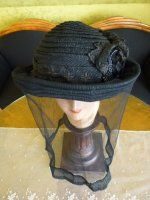 3 antique mourning Hat 1905