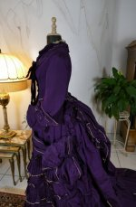 19 antique bustle dress 1874