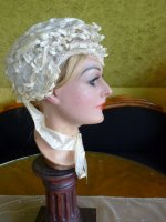 10 antique wedding bonnet 1850