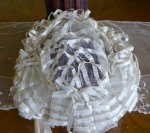16 antique wedding bonnet 1850