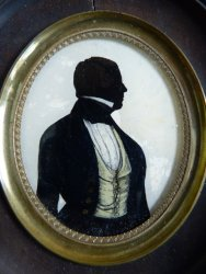 antique silhouette Miniature 1845