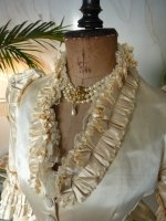 6 antique bustle wedding gown 1879