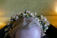 1 antique wax crown 1880