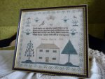 7 antique sampler 1837