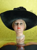 5 antique lampshade hat 1912