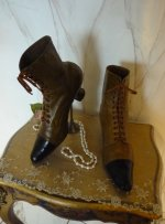 5 antique lace up boots