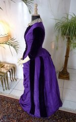 antikes Kleid, Kleid 1885, Tournürenkleid 1885, Mode 1885, viktorianisches Kleid, robe ancienne, antieke jurk