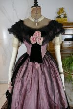 13 antique crinoline ball gown 1855