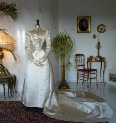 antique ROUFF Wedding Dress 1896