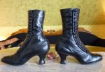 4 antique button boots