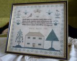 3 antique sampler 1837
