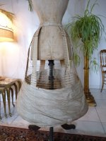 3 antique wire hoop skirt