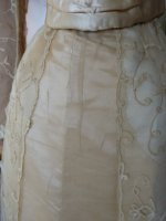 11 antique evening gown JEANNE HALLE 1899