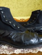 9 antique mens high button shoes