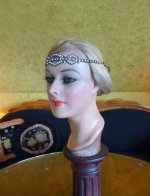 2 antique rhinstone flapper bandeau